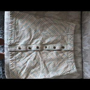 Anthropologie Skirts - Anthropologie Pilcro Striped Chino Skirt